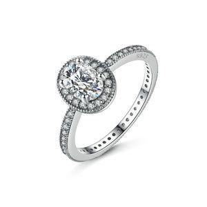 Oval Elegance CZ Ring, Sterling Silver